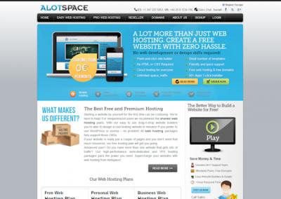 Снимка на уеб сайта AlotSpace