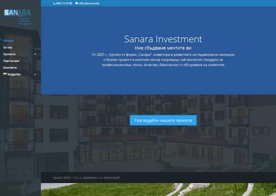 Снимка на уеб сайта Sanara Investment