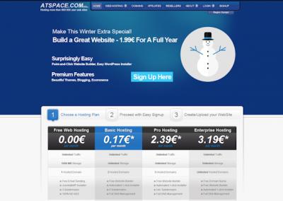 Снимка на уеб сайта AtSpace