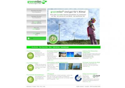 Снимка на уеб сайта GreenMiles