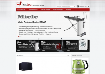 Снимка на уеб сайта Luxtec Luxembourg